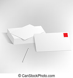 Vector presentation template letterheads pen - Vector...