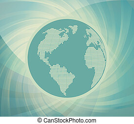 Globe vector background for poster