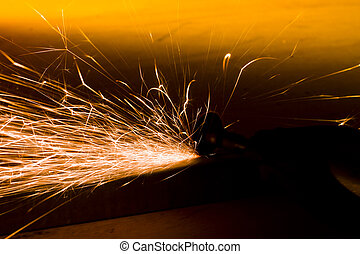 grinding with sparks