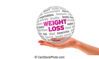 Weight Loss - A person holding a 3D weight loss sphere
