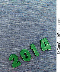 2014 New Year - 2014 on jeans