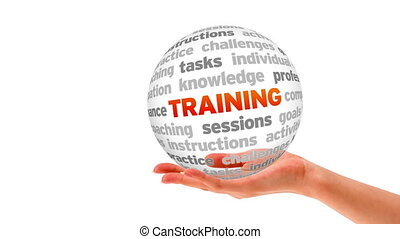 Training Sphere - A person holding a 3D training sphere