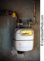 Gas meter - Details of a gas meter used for home use.