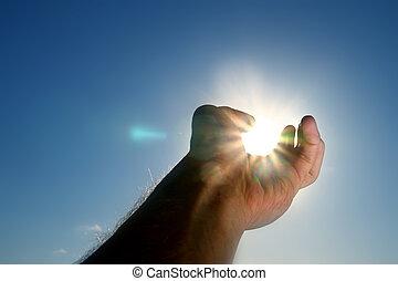 take the sun - hand take the sun city in dark