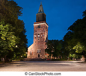 Medieval Turku cathedral in Finland - Medieval cathedral in...
