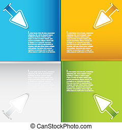 Presentation Template with four colored text box.Business...