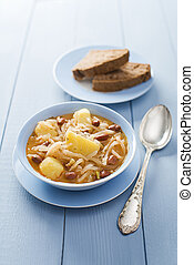 Turnip stew - Fresh turnip stew - jota, with potatoes and...