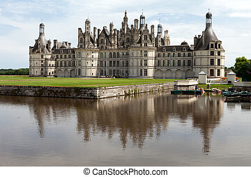 The royal Castle of Chambord in Cher Valley, France