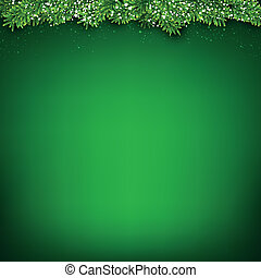 Green christmas background - Green christmas background with...