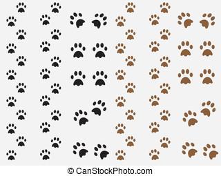 Dog prints - Black and brown dog prints illustration