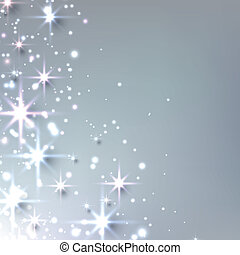 Christmas starry background with sparkles - Silver christmas...