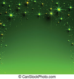Christmas green starry background. - Green christmas...
