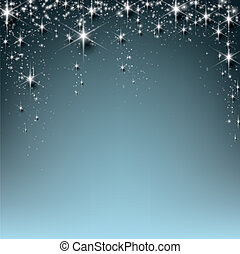 Christmas starry background - Blue christmas abstract...