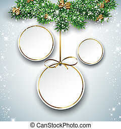 Paper round holiday labels. - Holiday paper round labels....