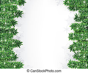 Fir christmas frame - Detailed frame with fir Christmas...