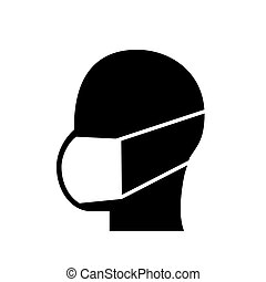protection mask symbol vector illustration