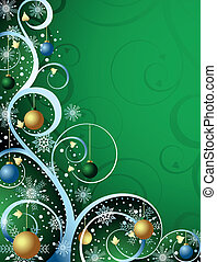 Abstract Christmas Background - Illustration of abstract...