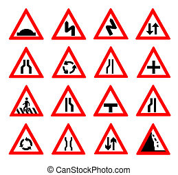 traffic signs vector illustration