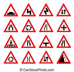 traffic signs vector illustration