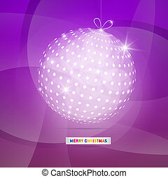 Violet Abstract Vector Merry Christmas Background