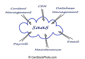Diagram of SAAS use
