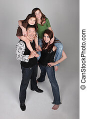 Fun and Unusual Vertical Family Portrait - Fun and Unusual...