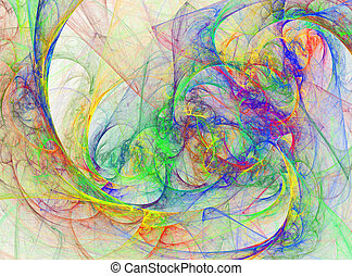 Abstract Vivid Rainbow Design - Fun Abstract Vibrant Rainbow...