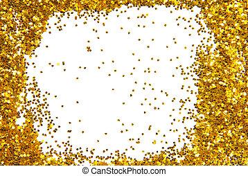 golden sparkle glittering frame