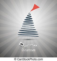 Retro Abstract Vector Merry Christmas Background