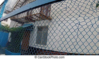 Prison Zone camp for prisoners - Courtyard area, detention...