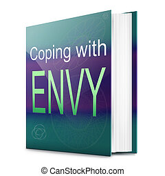 Envy concept - Illustration depicting a text book with an...