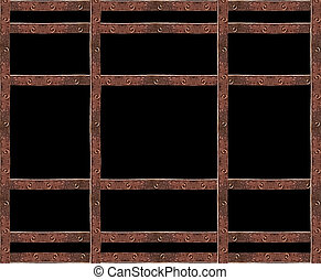 Industrial Iron Grid  Background