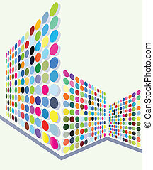 Dot vector background for poster - Dot vector background