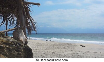 Tranquil Rustic Beach Scene Dolly - Dolly shot of a rustic...