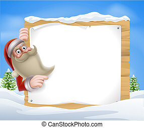 Santa Christmas Banner - A Santa Christmas Winter Scene of...