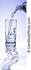 A glass of clean water