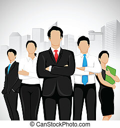 Business People - easy to edit vector illustration of...