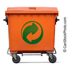 Der Grune Punkt on garbage bin