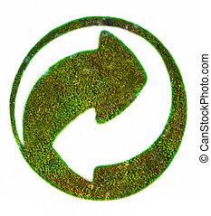 Der Grune Punkt sign on grass
