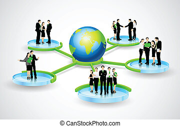 business connection - easy to edit vector illustration of...