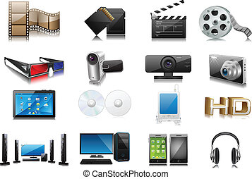 Electronics - easy to edit collection of electronic and...
