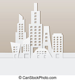 Cityscape - easy to edit vector illustration of cityscape...