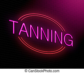 Tanning concept. - Illustration depicting an illuminated...