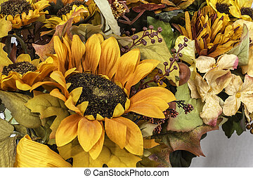 Fall and Autumn Colored Flower Arrangment - A Fall and...