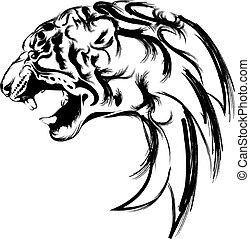 tiger head - vector of logo tiger head