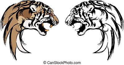 tiger head - vector of logo tiger head