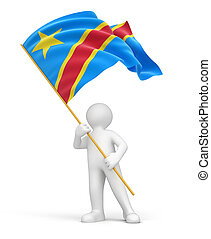 Democratic Republic Congo flag - Man and Democratic Republic...