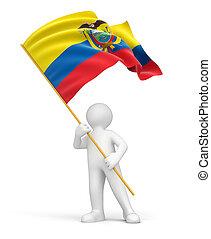 Man and Ecuadorian flag - Man and Ecuadorian flag. Image...