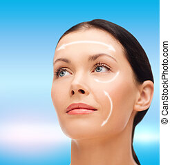relaxed young woman - beauty, spa and health concept -...