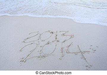 2014, rok, nowy, nadchodzący, Pora